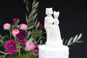 The Owl And The Pussycat Wedding Cake Topper - table decorations