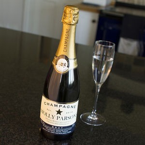 Personalised Champagne In A Silk Lined Gift Box - for the couple