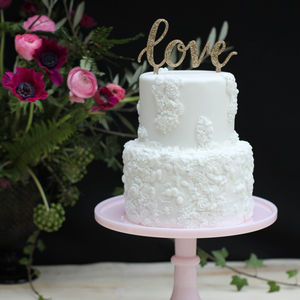 25% Off Love Wedding Cake Topper