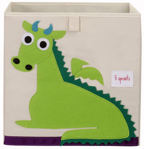 Green Dragon Canvas Storage Box - children's room