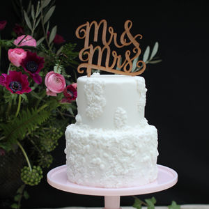 Mr And Mrs Wedding Cake Topper - cake toppers & decorations