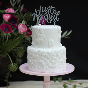 Just Married Wedding Cake Topper - table decorations