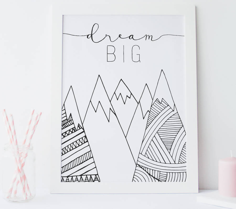 Dream Big Nursery Wall Art Print