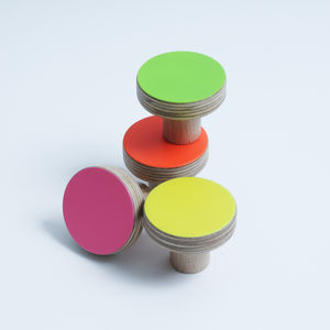 Wooden Furniture Knobs Fluro Colours