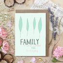 Family Is Everything A6 Greeting Card