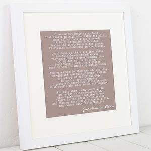 Personalised Mounted Poem Art Print - typography