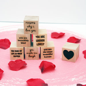 Personalised 'Reasons Why I Love You' Blocks - 5th anniversary: wood