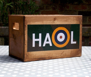 Personalised Royal Air Force Battle Of Britain Crate - boxes, trunks & crates