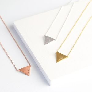 Personalised Triangle Name Necklace