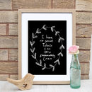 Passionately Curious Quote Print