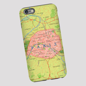 Paris Map Phone Case - for travel-lovers
