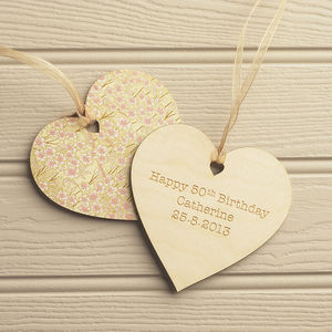 Floral Personalised Keepsake Celebration Heart - home accessories