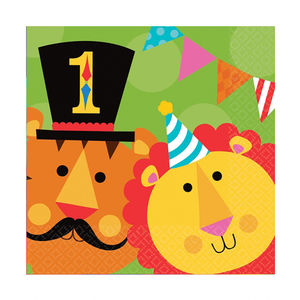 Circus 1st Birthday Party Paper Napkins - napkins