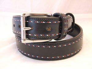 Handstitched British Spirit Raised English Leather Belt