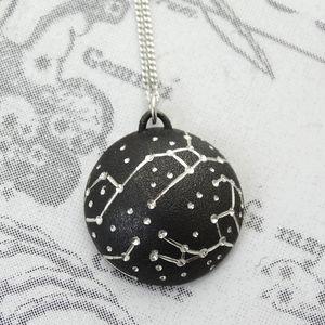 Personalised Silver Starscape Pendant - necklaces & pendants