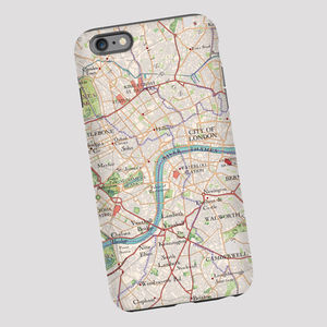 Central London Map Phone Case