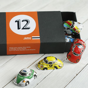 Personalised Box Of Birthday Chocolate Cars