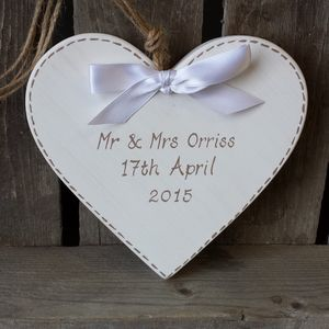 Wedding Heart With Stitching - best wedding gifts