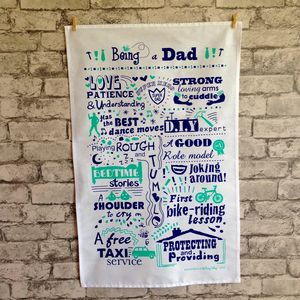 'Being A Dad' Tea Towel