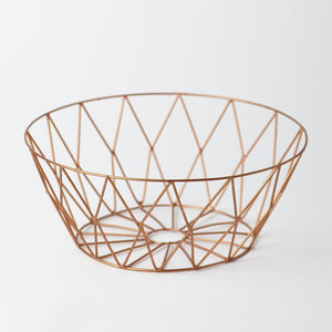 Copper Wire Basket - office & study