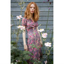 Rose Printed Wraparound Tea Dress