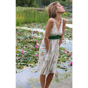 Marshmallow Blooms Tulip Dress