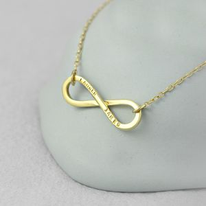 Personalised 9ct Yellow Gold Infinity Necklace - necklaces & pendants