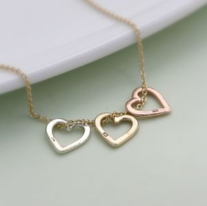 Personalised 9ct Gold Mini Heart Necklace - jewellery gifts for friends