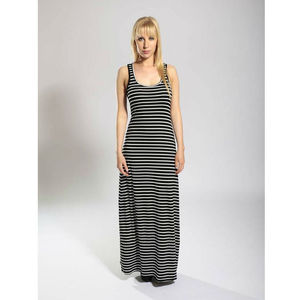 Navy And White Stripe Jersey Maxi Dress - summer clothing