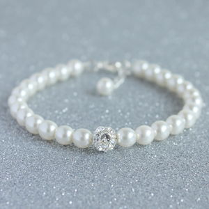 Pearl And Crystal Giltterball Bracelet - bracelets & bangles