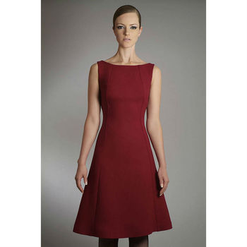 Wool Crepe A Line Dress