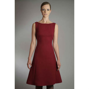 Wool Crepe A Line Dress - dresses