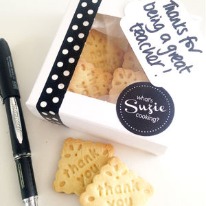 Handmade Thank You Biscuits For Teachers - gifts for teachers