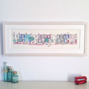 Portobello Road Houses Limited Edition Print - treasured locations & memories