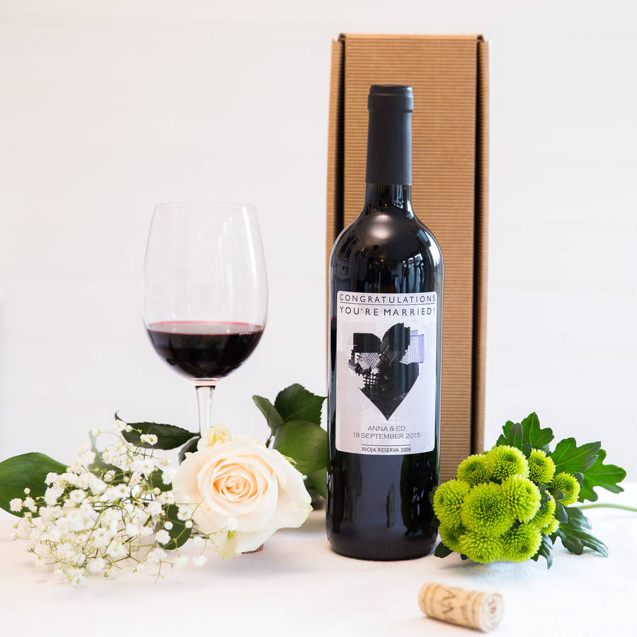 Personalised Wine Bottle Organic Rioja