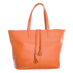 The Serafina Tote In Orange