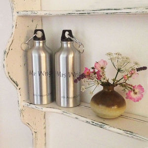 'Mr And Mrs' Wedding Waterbottles