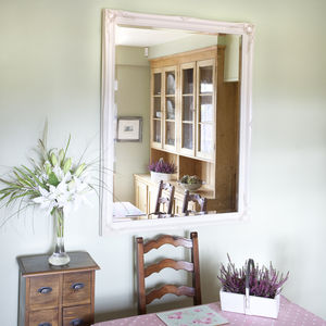 Simple Classic French Ivory Mirror - mirrors
