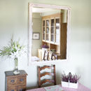 Simple Classic French Ivory Mirror