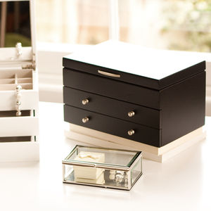 Black Wooden Jewellery Box