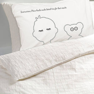 Personalised Pillowcase For Child And Teddy Sleepyheads - children's cushions