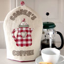 Personalised Embroidered Cafetiere Cosy