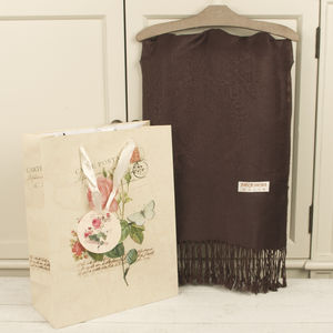 Luxurious Chocolate Brown Pashmina