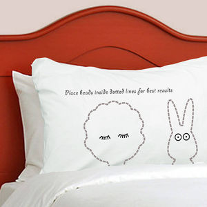 Personalised Pillowcase For Child And Bunny Sleepyheads - children's room
