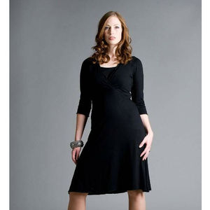 Maternity And Breastfeeding V Neck Dress - dresses
