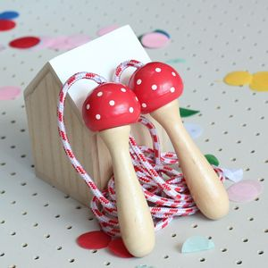 Handpainted Wooden Toadstool Skipping Rope - garden games & toys