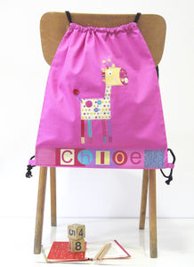 Girls Giraffe Drawstring Bag - children's accessories
