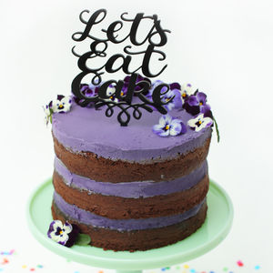 Let's Eat Cake Party Cake Topper - occasional supplies