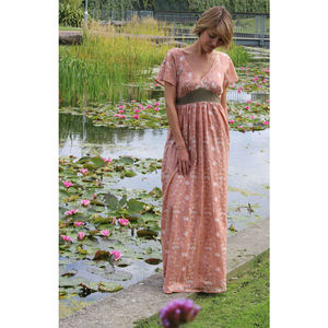 Blushing Lizard Long Tulip Dress - women's fashion