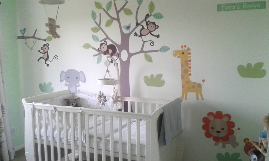 pastel jungle safari wall stickersparkins interiors